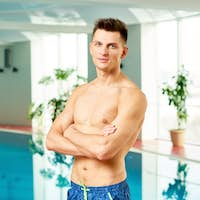 Handsome Man by Swimming Pool