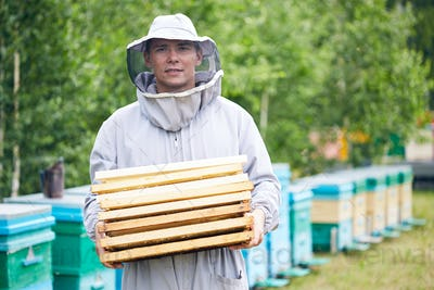 Young Worker in Apiary