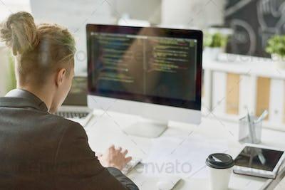 Creative Web Developer Writing Code