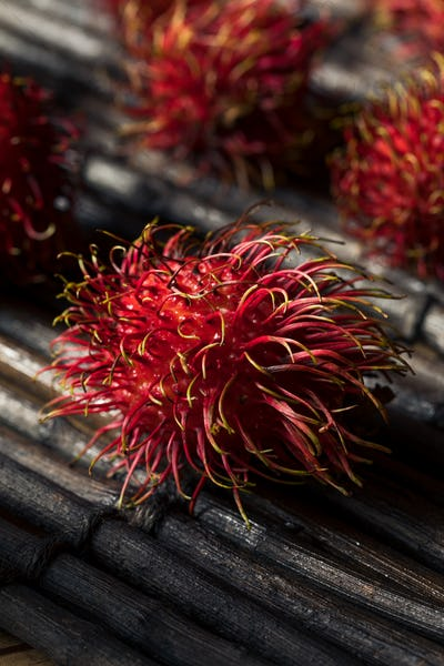Raw Red Organic Rambutan Fruit