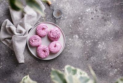 Purple berry sweet homemade marshmellow
