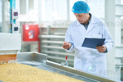 Inspector at Food Factory