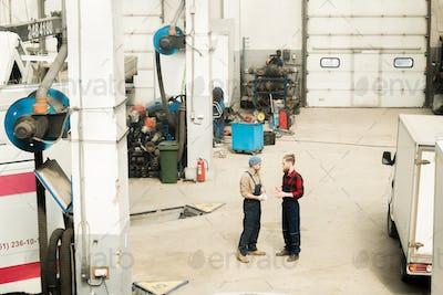 In Automobile Repair Workshop