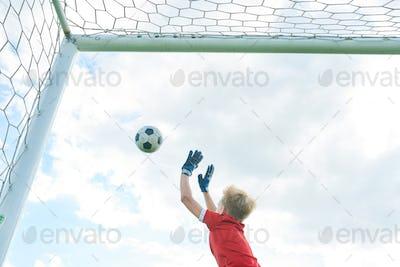 Boy Defending Gate