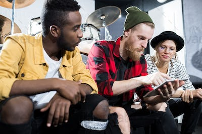Young People in Music Studio