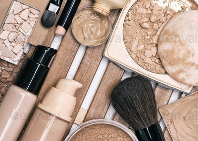 First step of makeup application - foundation products