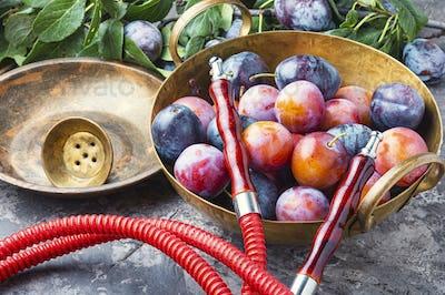 Shisha with plum flavor