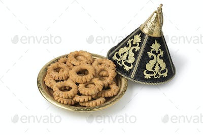 Traditional festive Moroccan tagine with Kaak cookies