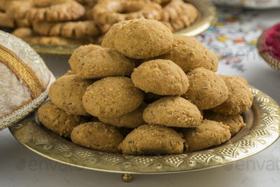 Traditional Moroccan ghoriba cookies