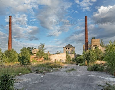Abandoned and dilapidated factory