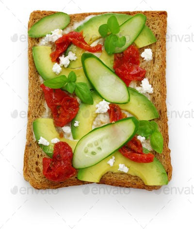 avocado toast open sandwich