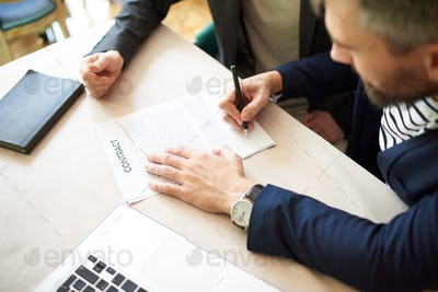 Signing Contract with Business Partner