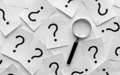Background pattern of random question marks