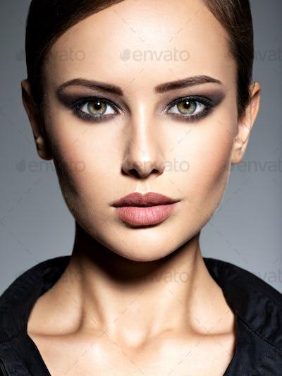 Woman makeup beautiful portrait face hairstyle fashion short