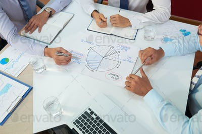 Business executives having meeting