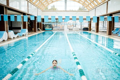 Swimming at resort