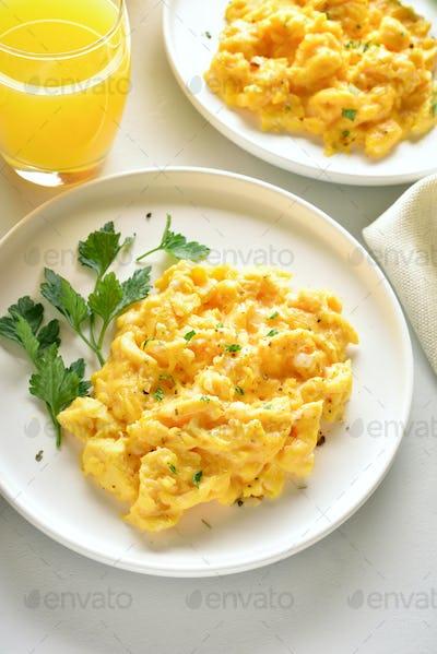 Scrambled eggs for breakfast