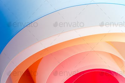 Background photography - multicolored twisted sheets with a grad