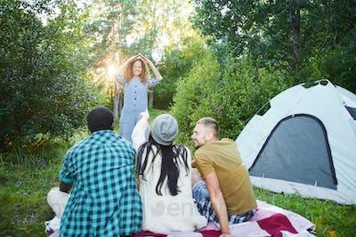 Fun in camp