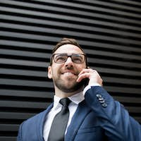 Business man with smartphone