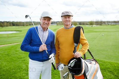 Aged golf players