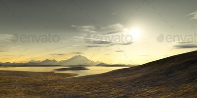 fantasy landscape scenery without vegetation