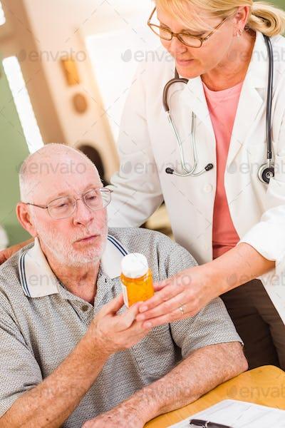 Senior Adult Man Medication Series