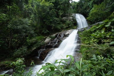 Huai Sai Lueang Waterfall in Inthanon National Park.