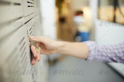 Locking door of safe
