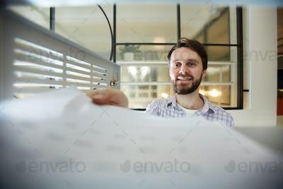 Accountant at work