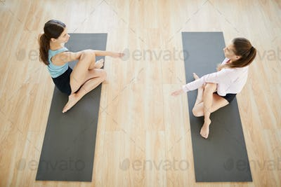 Aerobics on mats