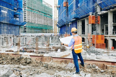 Head engineer at construction site
