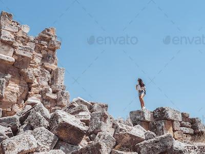 Hierapolis City Ruin in Turkey in Pamukkale