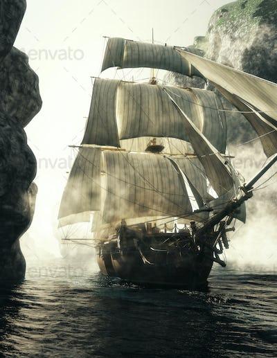 Pirate ship Voyage