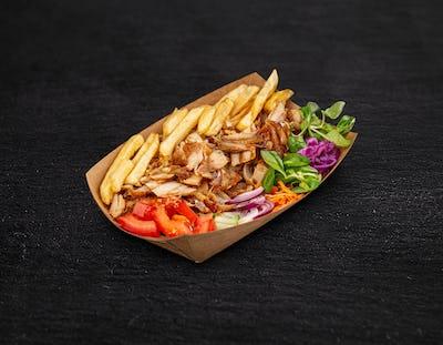 Turkish plate kebab