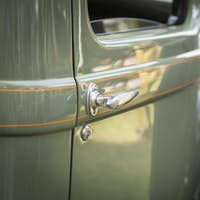 Detail Abstract of Beautiful Vintage Car Door and Handle.