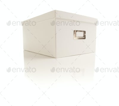 White File Box Isolated on a White Background.