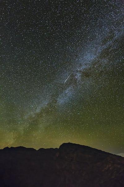 Milkyway And Shooting Star Above La Palma Caldera