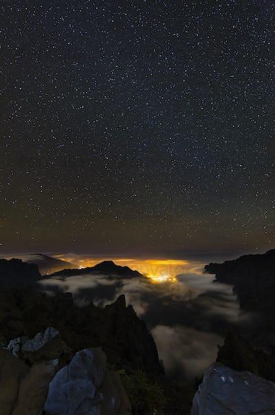 Starscape Above La Palma Caldera