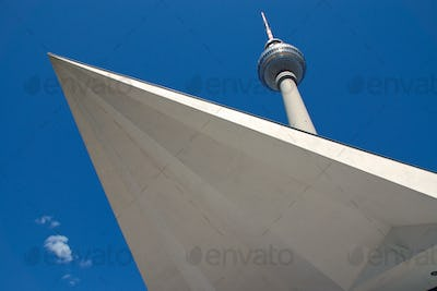 Televisiontower at Alexanderplatz in Berlin