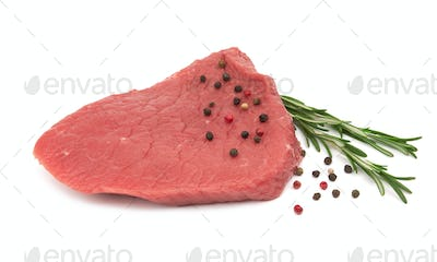 Fresh raw meat isolated on white background