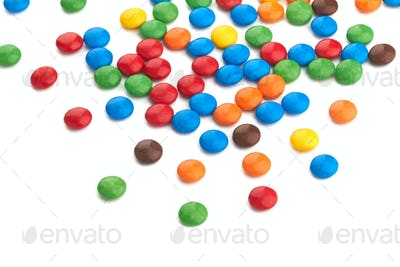 colorful chocolate buttons