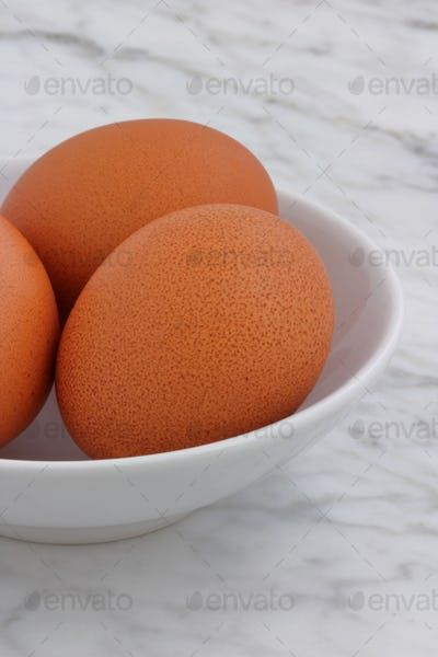 fresh raw eggs