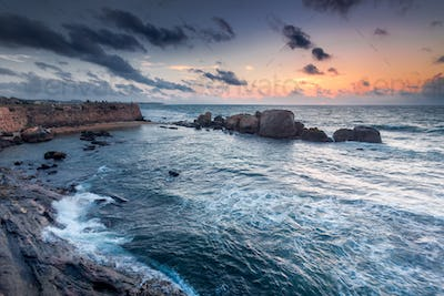 The shores of the Indian Ocean next to Galle