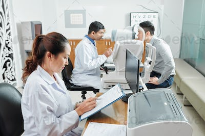 Doctors working at hospital