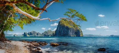 Beautiful exotic southern nature impressive epic tropical islands, Philippines, Palawan
