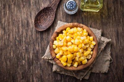 Bowl of  a sweet corn