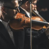 Classical music concert performance