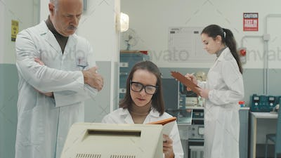 Scientific team working in the laboratory