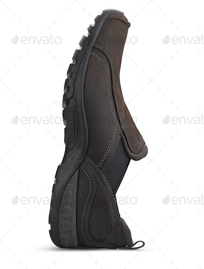 brown male shoes isolated